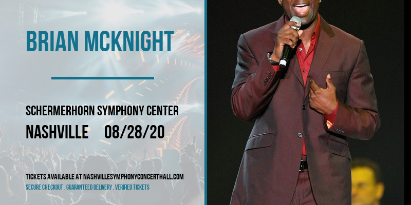 Brian McKnight [POSTPONED] at Schermerhorn Symphony Center