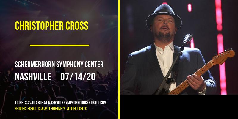 Christopher Cross [CANCELLED] at Schermerhorn Symphony Center