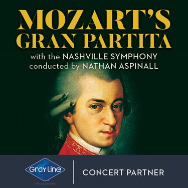 Nashville Symphony: Nathan Aspinall - Mozart's Gran Partita [CANCELLED] at Schermerhorn Symphony Center