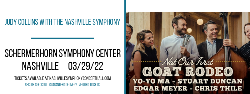 Judy Collins With The Nashville Symphony at Schermerhorn Symphony Center